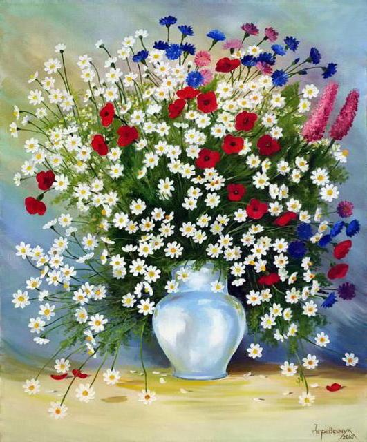 Полевые цветы, цветы, флора,