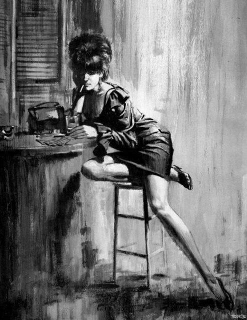 Фото черно белое с сигаретой