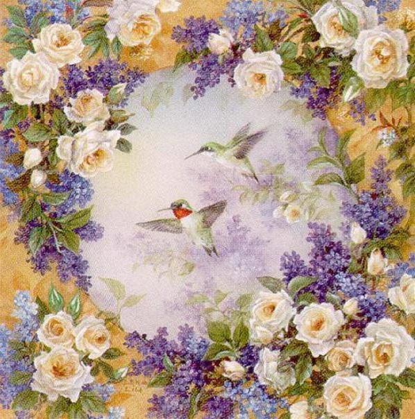 Райский сад, цветы, розы,