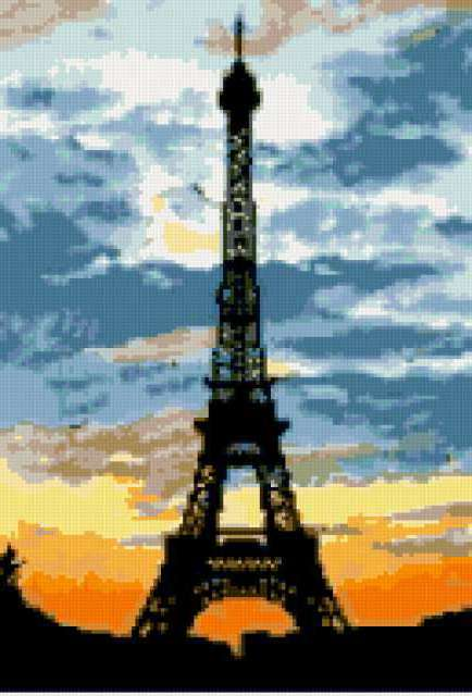 Закат в Париже, предпросмотр