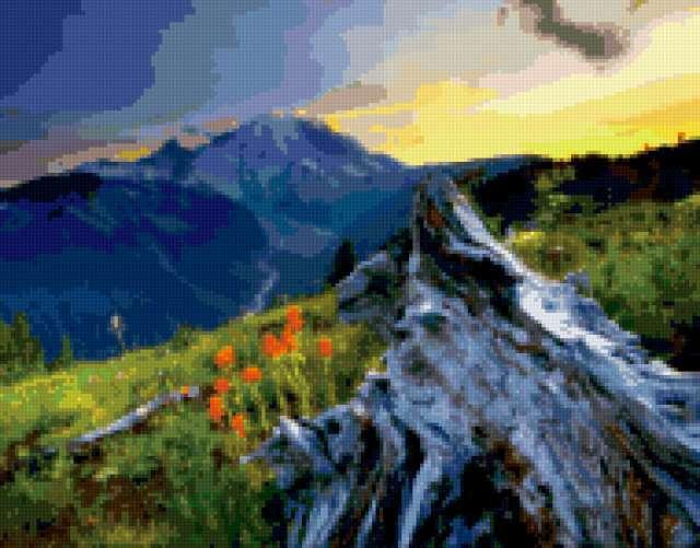 Альпийский пейзаж2