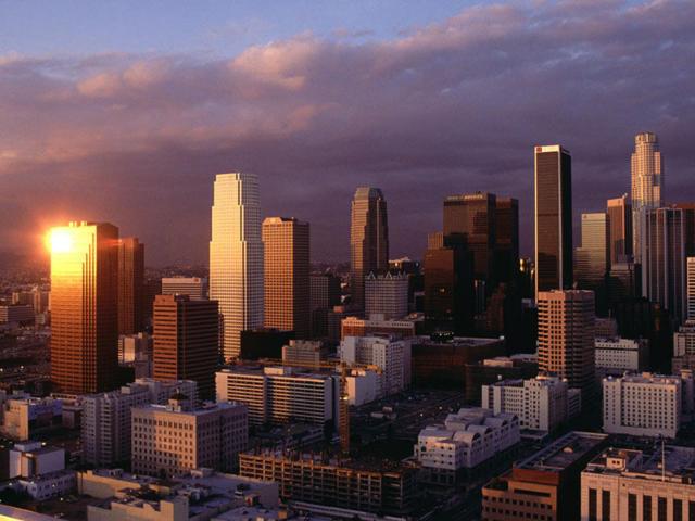 Лос-Анджелес на закате,