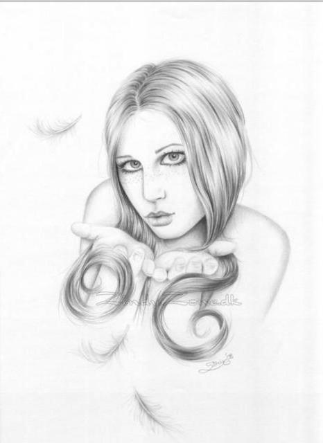 портрет, лицо, рисунок