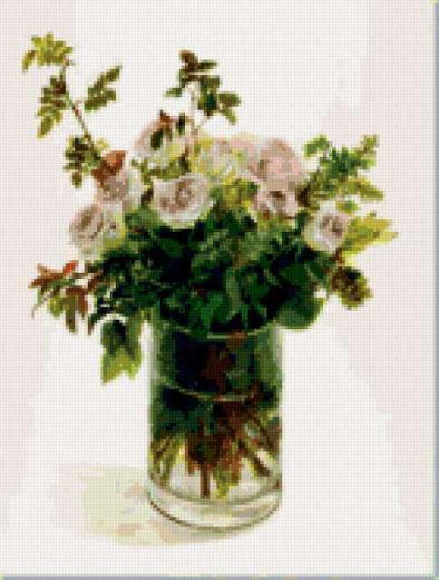 Букет роз и трав, предпросмотр