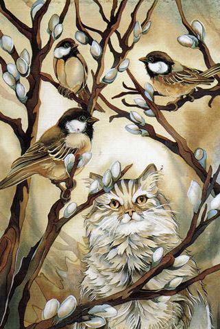 Кот и воробьи, оригинал