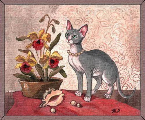 Сфинкс и орхидея, оригинал