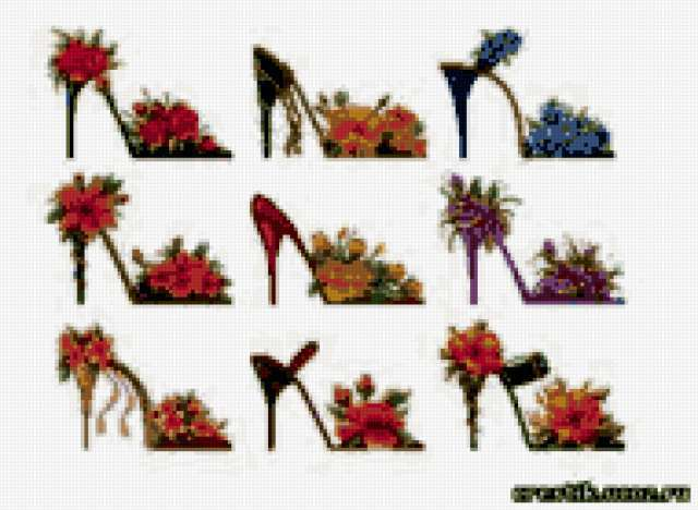 Туфельки с цветиками