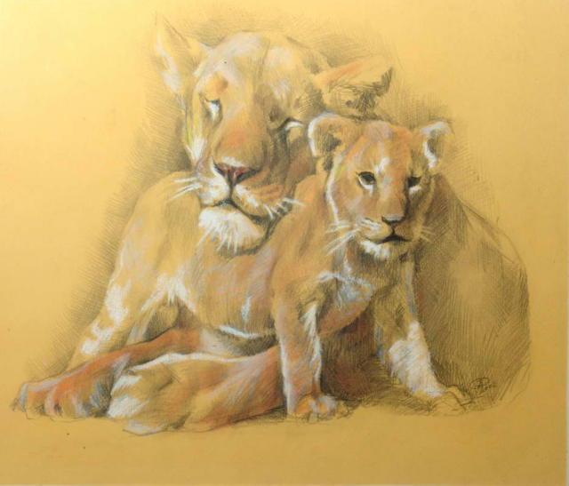 Львица со львенком, оригинал