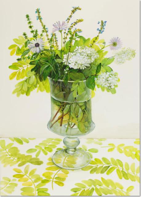 Букет полевых цветов и трав,