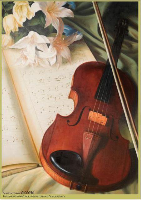 Скрипка и лилии, панно,
