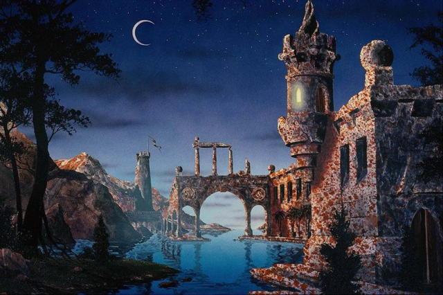 Замок в ночи, оригинал