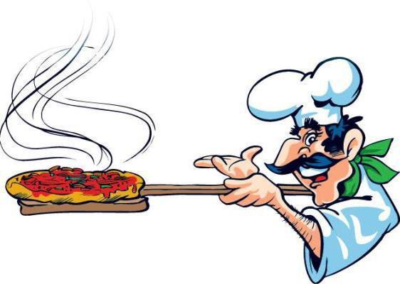 Повар и пицца,