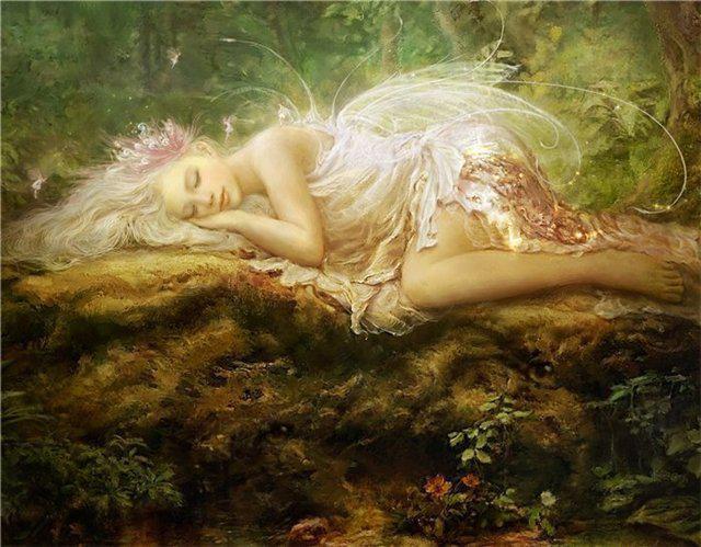 Спящая лесная нимфа, оригинал