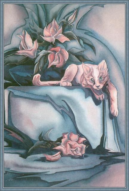 Розы и кот, оригинал