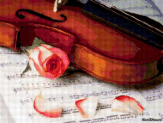 Скрипка и роза, предпросмотр