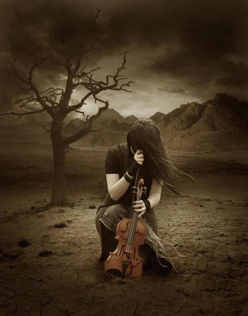 Девушка со скрипкой, девушка,