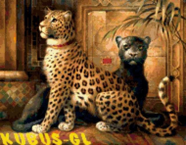Дикие кошки, животные, ягуар,