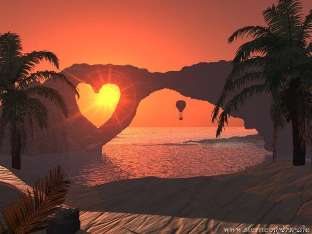 Остров любви, пейзажи, скала,