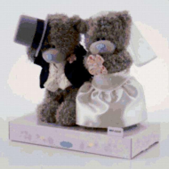 Мишки Тедди свадебная парочка,