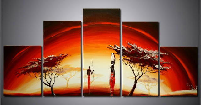 """Триптих """"Африка"""", оригинал"""