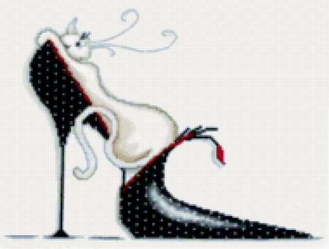 Кошка и туфля, предпросмотр