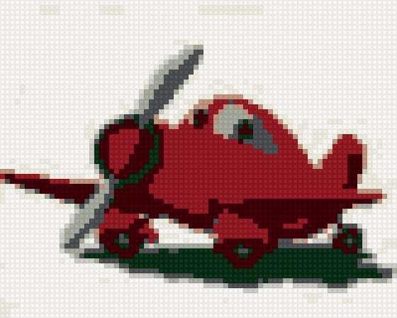Красный самолетик