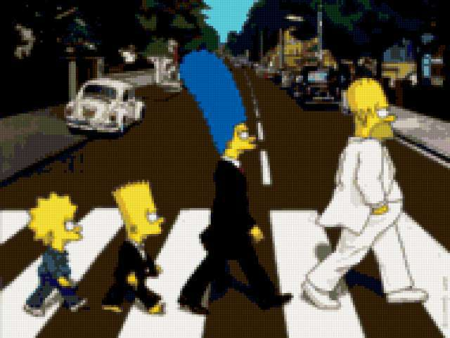 The Simpsons as the beatles