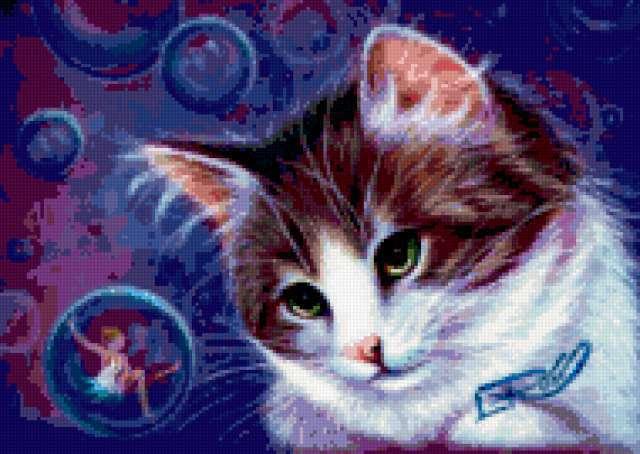 Кот и пузыри, предпросмотр