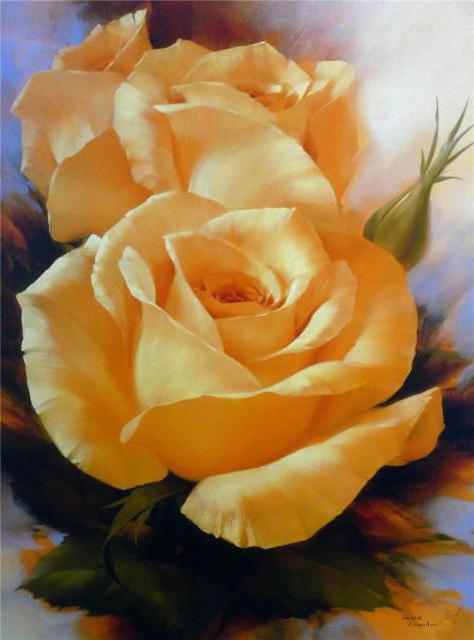 Чайные розы, Цветы
