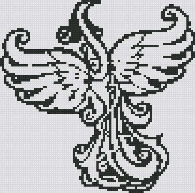 Вышивка черными нитками схема крестиком izuvumi- 1 Постила 100