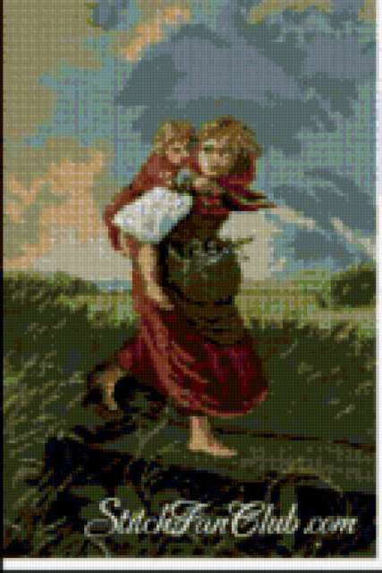 Дети, бегущие от грозы,