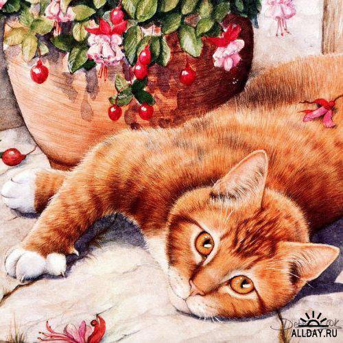 Рыжая кошка, оригинал