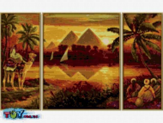 Египетские мотивы вышивка