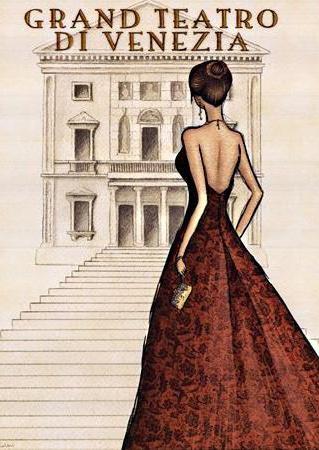 Мода и театр, мода, девушка,