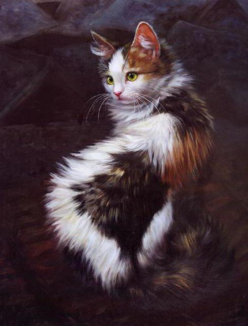Трехцветная кошка, картина