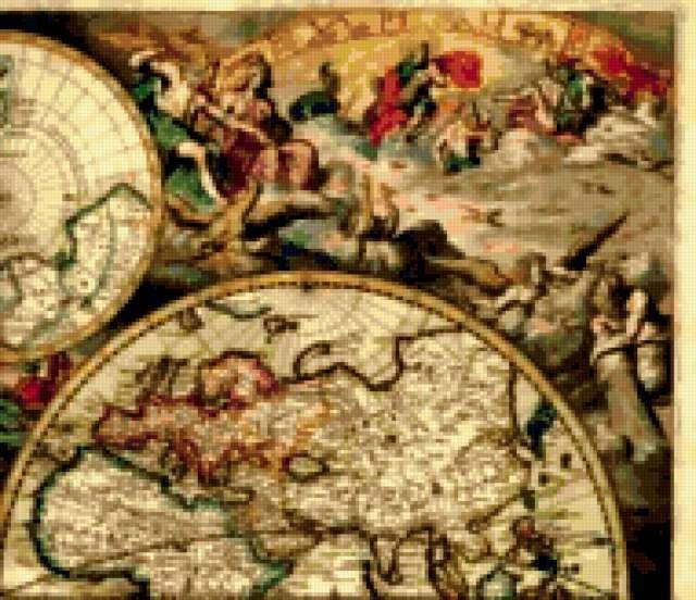 map 2, старинная карта