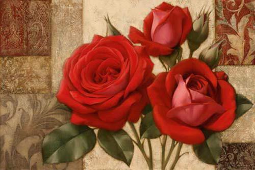 Три розы справа, цветы, букет,