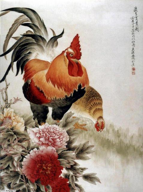 Петух и курица, оригинал