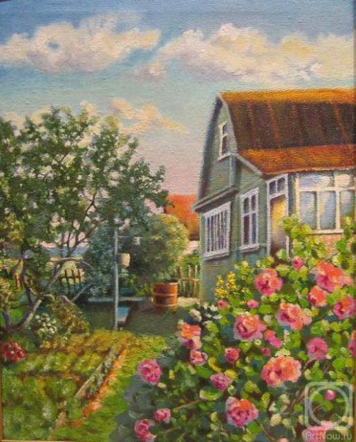 Дачный домик, Пейзаж, природа,