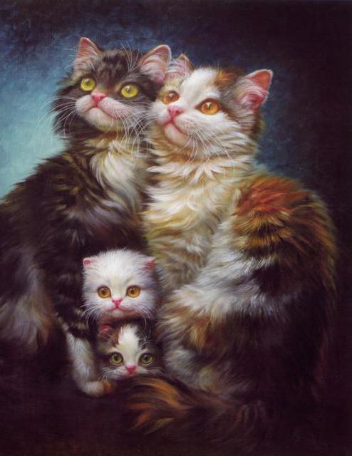 Семейство кошачьих, картина