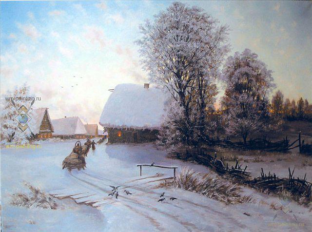 Зимняя деревня, оригинал