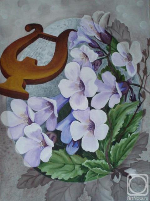 Белые цветы и лира, оригинал
