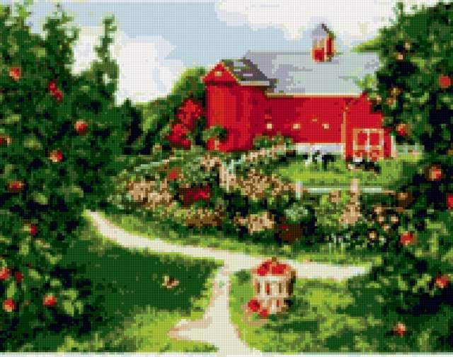 Домик в саду, предпросмотр