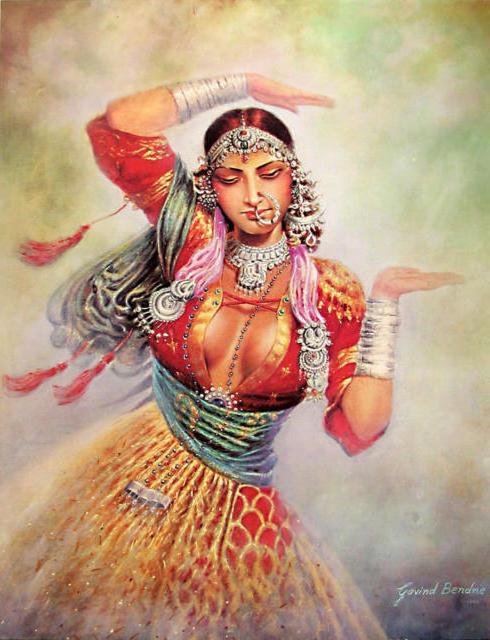 Индийская танцовщица, оригинал