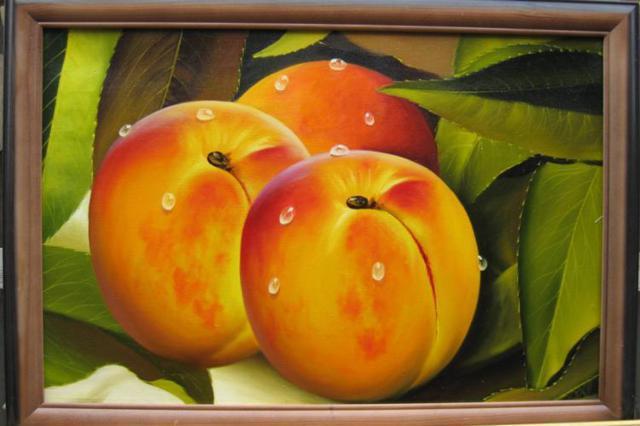 Персики, натюрморт, кухня