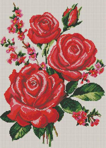 Красные розы, цветы, розы