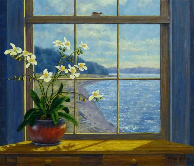 Окно на море, море, природа,
