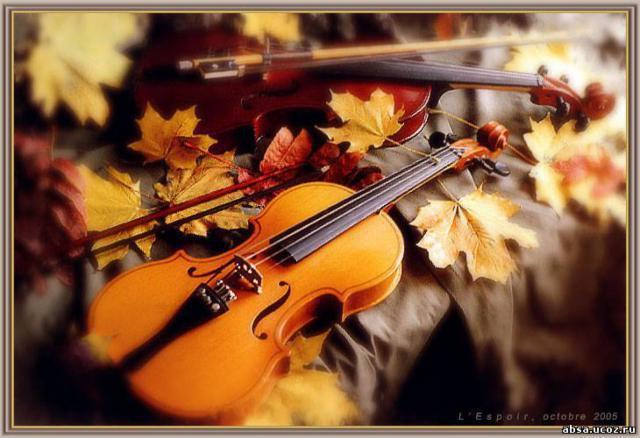 Схема для вышивки скрипки