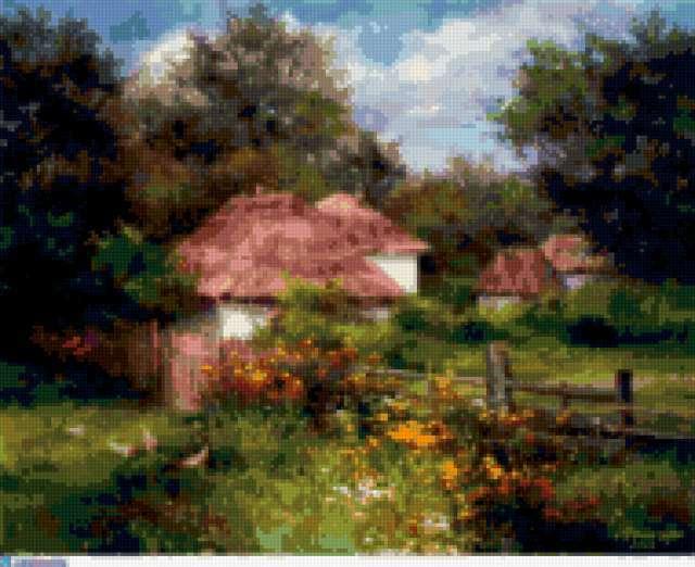 Сельский пейзаж, пейзаж