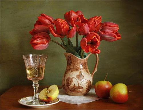 Натюрморт с тюльпанами 8